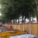 New Fence and crown lift at Tenby Road